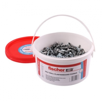 Fischer Self Drill Plasterboard Fixings With Screws - Pack 300