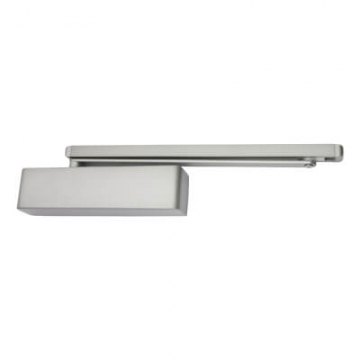 Briton 2300 Cam Action Closer - Pull Side Mounting - Silver Softline Cover
