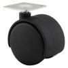 Ion Mini Twin Wheel Castor - No Brake - 50mm Wheel Diameter
