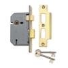 Union® 2277 3 Lever Sashlock - Keyed Alike Number M136mm - 77mm Case - 57mm Backset - Brass