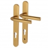 Hoppe Birmingham - Upvc/timber - Multipoint Short Plate Handle - 92mm Centres - 70mm Door Thickness - Gold