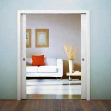 Eclisse Double Pocket Door Kit - 125mm Finished Wall - 1026+1026 X 2040mm Door Size