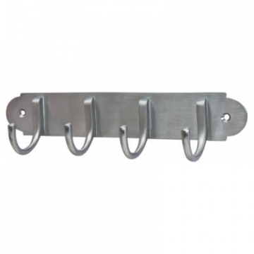 M Marcus Solid Brass Coat Rack - 223 X 64 X 40mm - Satin Chrome