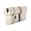 Yale® 3 Star Anti Snap Platinum Euro Double Cylinder - 45 + 40mm - Brushed Nickel