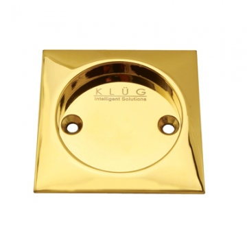 Kl▄g Square Screw Fixed Flush Handle - 63 X 63mm - Pvd Brass