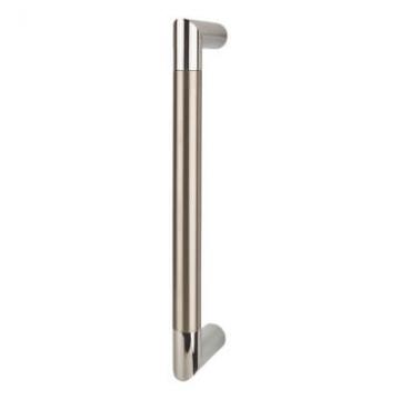 Serrozetta Trend Pull Handle - 245 X 19mm - Polished Chrome / Satin Nickel