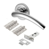 M Marcus Wing Door Handle - Door Kit - Polished Chrome
