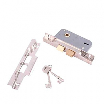 Era® 2 Lever Rebated Sashlock - 77mm Case - 56mm Backset - Nickel Plated