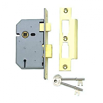 Union® 2277 3 Lever Sashlock - 65mm Case - 44.5mm Backset - Polished Brass