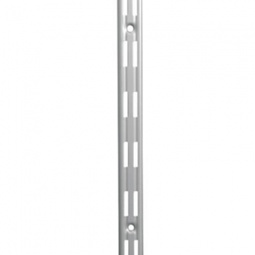 Aspect Twin Slot Shelving Upright - 1500mm - Silver