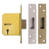 Legge 5 Lever Deadlock - 76mm Case - 57mm Backset - Polished Brass
