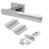 Morello Essence Door Handle - Door Kit - Polished Chrome