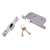 Union® 3r35 5 Detainer High Security Nightlatch - Right - 80mm Case - 44mm Backset - Stainless Steel