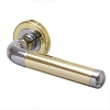 Morello Westminster Door Handle - Polished Brass/chrome