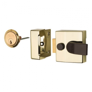 Yale® 85 Double Locking Nightlatch - 40mm Backset - Brass Case/cylinder