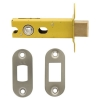 Altro 8mm Tubular Bathroom Deadbolt - 76mm Case - 57mm Backset - Radius - Satin Stainless