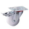 Heavy Duty Industrial Castor - Swivel Braked - 80kg - White