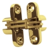 Tago Concealed Soss Hinge - 95 X 19mm - Polished Brass