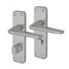 Project Lynx Door Handle - Bathroom Set - Satin Aluminium