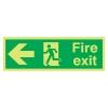 Nite-glo Fire Exit Running Man - Arrow Left - 150 X 450mm