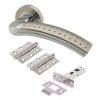 Touchpoint Madison Door Handle - Door Kit - Satin Nickel/polished Chrome