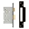 A-spec Architectural Bathroom Lock - 65mm Case - 44mm Backset - Black Nickel