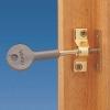 Yale® 8k118 Budget Wooden Window Lock - Brass