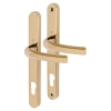 Hoppe Tokyo Multipoint Handle - Upvc/timber - 92mm Centres - 60-70mm Door Thickness - Polished Brass