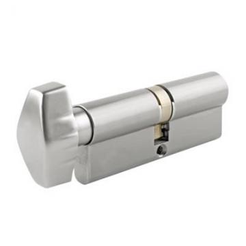 Union® J2x28 Cylinder - Euro Double & Thumbturn - 32[k] + 32mm - Satin Chrome