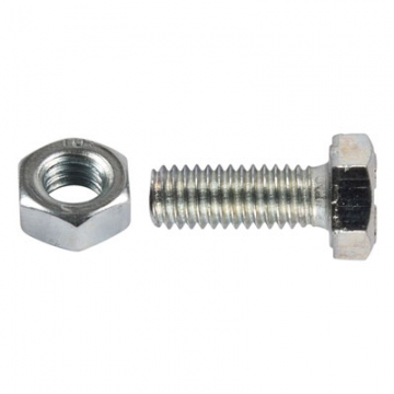 Metric Ht Set Screws With Hex Nut - M8 X 70mm - Pack 2