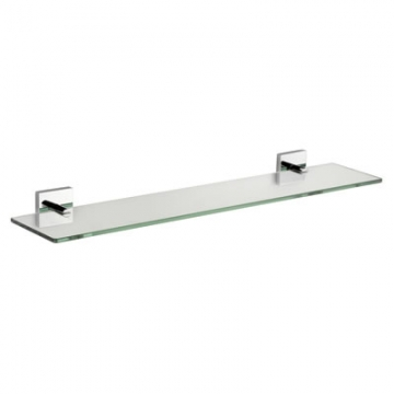 Croydex Chester Glass Shelf - 590mm - Polished Chrome