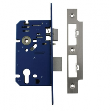 A-spec Architectural Din Euro Escape Sashlock - 85mm Case - 60mm Backset - Polished Stainless