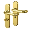 Carlisle Brass 19mm Return To Door Handle - Bathroom Turn & Release Set - Polished Brass
