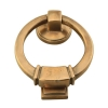 Louis Fraser Ringed Square Door Knocker - 98mm - Light Bronze