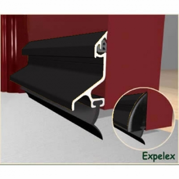 Exitex Standard Rain Deflector And Drip Bar - 914mm - Black