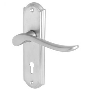 Elan Turin Door Handle - Lock Set - Satin Chrome