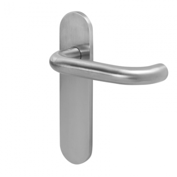 A-spec 19mm Return To Door Handle - Latch Set - Satin Stainless Steel