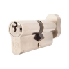 Yale® 1 Star Kitemarked Cylinder Lock - Euro Double & Thumbturn - 40[k] + 40mm - Nickel Plated