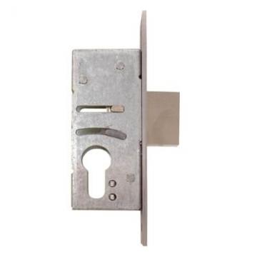 Nemef® 9600 Narrow Style Euro Deadlock - 60mm Case - 45mm Backset - Satin Stainless