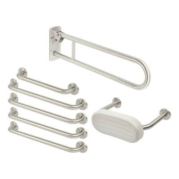 Nymas Rail Only Low Level Doc M Pack - Satin Stainless Steel