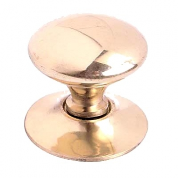 Touchpoint Budget Victorian Cabinet Knob - 35mm - Polished Brass