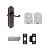 Aglio Ashmead Handle Door Kit - Latch Set - Black Nickel