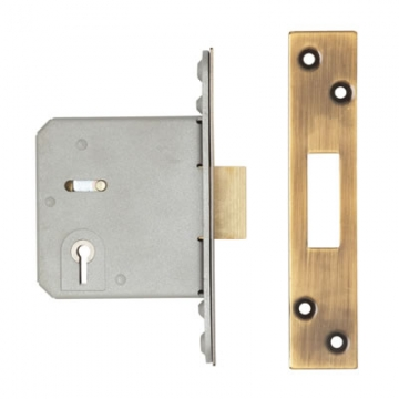 A-spec Architectural 3 Lever Deadlock - 78mm Case - 57mm Backset - Radius - Florentine Bronze