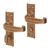 Louis Fraser Tudor Door Handle - Bathroom Set - Oil Rubbed Bronze