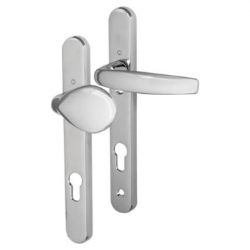 Hoppe Atlanta Multipoint Handle - Upvc/timber - 92mm Centres - 70mm Door Thickness - Lever/pad - Polished Chrome