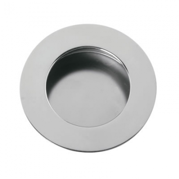 Altro Circular Flush Cabinet Handle - 65mm - Polished Stainless Steel