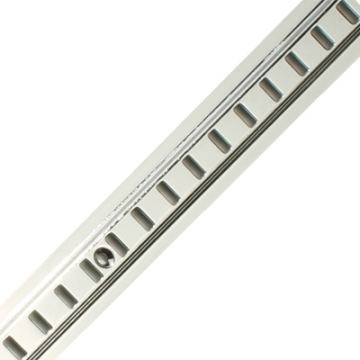 Ion Raised Bookcase Strip - 1829 X 24mm - Satin Chrome Plated (on Solid Brass)
