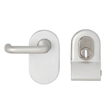 A-spec Cylinder Pull And Disabled Turn For Mortice Nightlatch - Satin Aluminium
