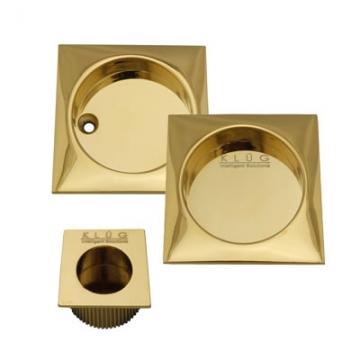 Kl▄g Square 3 Piece Flush Handle Set - Pvd Brass