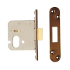 A-spec Architectural Oval Deadlock - 78mm Case - 57mm Backset - Radius - Florentine Bronze